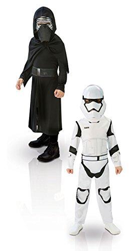 Rubie's-déguisement officiel - Star Wars- Pack de 2 Kylo Ren et StormTrooper - Taille L- ST-620397L