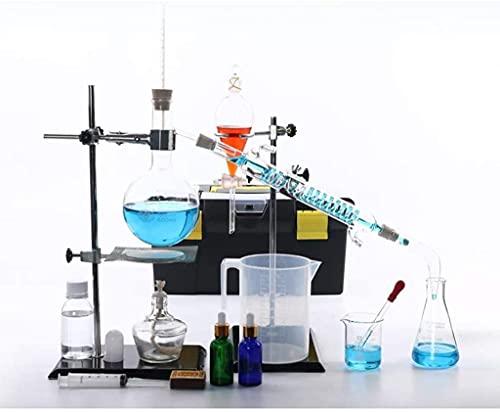 LSWY Equipo de Vida 500 ml Unidad de destilación domiciliaria Esencial Aceite Extracción Dispositivo Experimento Químico Equipo Equipo de Enseñanza Escolar
