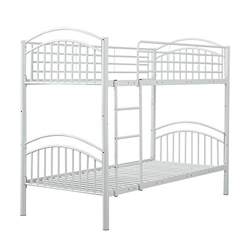 YJYDD Metal Bunk Beds 3ft Single,Split Into 2 Beds For Kids Twins Adults