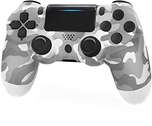 JORREP Controller per PS4, Wireless Controller per Playstation 4/Pro/3/Slim/ PC, Wireless Gamepad Joystick con Shock a Doppia Vibrazione a Sei Sssi e Jack Audio Mini LED