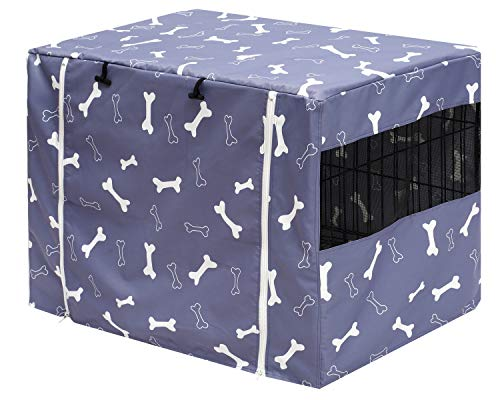 Geyecete Dog Crate Covers Durable Polyester Pet crate cover Universal Fit...