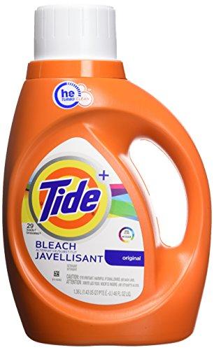 Tide Plus Bleach Alternative Safe on Colors HE Turbo Clean Liquid Laundry Detergent, Original Scent, 1.36 L (29 Loads), 46 Fl Oz (Pack of 1) (037000875482)