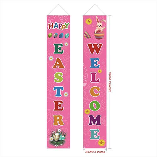 Pasen banner decoratie, Pasen banner en Bunny Bunting, mooie slinger slinger vlaggen home party decoratie, decoratie voor verjaardagsfeesten, ceremonieën keuken slaapkamer