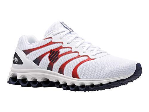 K-Swiss Herren Tubes Comfort 200 Sneaker, White/Navy/RED, 44 EU