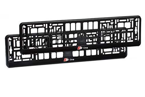 Paar Kennzeichenhalter für Audi S-Line A1, A2, A3, A4, A5, A6, A7, A8, Q2, Q3, Q5, Q7