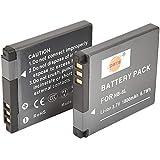 DSTE - Baterías para cámaras Canon PowerShot A2200, A3000 IS, A3100 IS, A3200 IS, A3300 IS (ion de litio, 2 unidades)