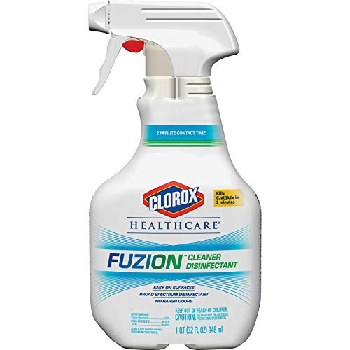Clorox Healthcare Fuzion Cleaner Disinfectant Spray, 32 Ounces (31478)