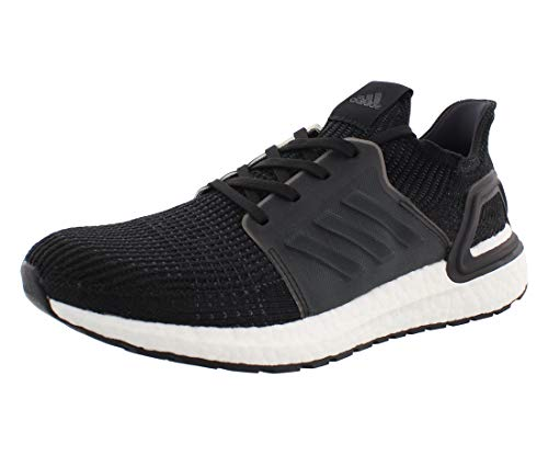 adidas Men's Ultraboost 19 Running Shoe, Black/Black/White, 10 M US