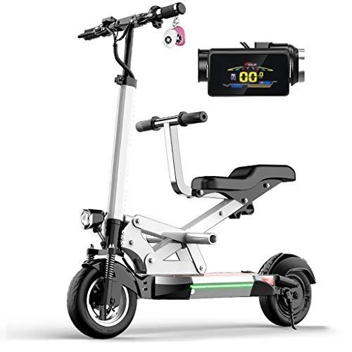 TB-Scooter Patinete Eléctrico Blanco, con LED y Altura del Manillar Ajustable, Motor...