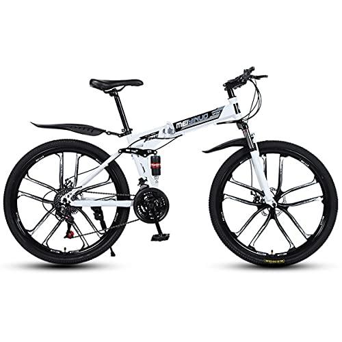 GGXX 26 pulgadas bicicleta montaña bicicleta plegable 21/24/27 velocidad ajustable doble amortiguación off road bicicleta disco freno