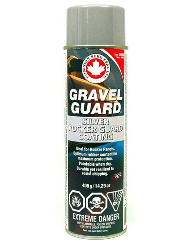Dominion Sure Seal Gravel Guard 2, OEM Approved Rocker Panel Coating, 20 oz. Aerosol, Silver/Grey (DOM-SVG2)