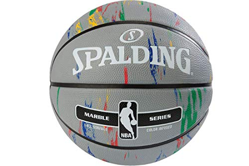Spalding NBA Marble out Ball 83883Z 83883Z_7 - Balón de Baloncesto Unisex, Color Gris, 7 EU (7 UK)