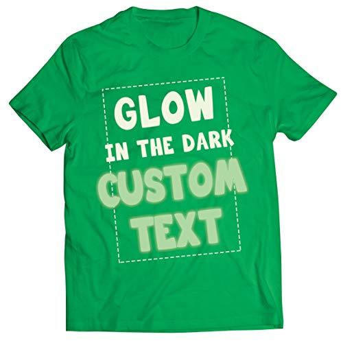lepni.me Männer T-Shirt Im Dunkeln Leuchten Benutzerdefinierter Text Slogan Die Nacht Erhellen Personalisierte Kleidung (L Grün Glow in The Dark)
