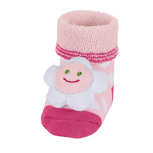 Sterntaler Mädchen Socken Baby-Rasselsöckchen Blume, Rosa (Rosa 702), 16 (Herstellergröße: 16)