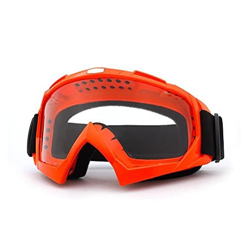 Hugyue Gafas de Motocicleta, Gafas de Moto de Cross, Gafas de Seguridad de Motocross, MTB, protección a Prueba de Viento y Polvo para Ciclismo, esquí