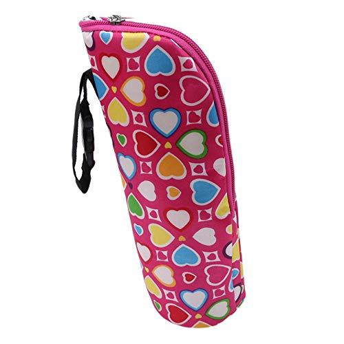 Generic Rlmobes Babyflasche Einkaufstaschen Polyester Milchwasserflasche Isolierte Aufbewahrungstasche für Reisen einkaufen,Rosenrot