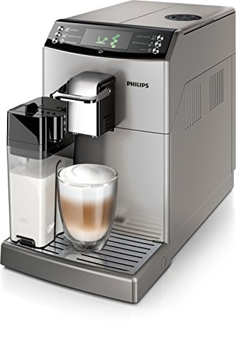 Philips Serie 4000 Kaffeemaschine Essence Duo, silber, 15 bar, Technologie Patentiert