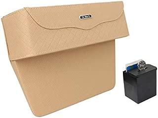 Whiteswanau Car Seat Gap Storage Box Cup Holder Phone Holder Auto Car Organizer Floral Seat Catcher Gap Filler