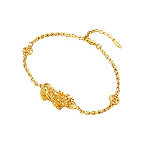 FAVOMOTO Ouro Pulseira Feng Shui Sorte Riqueza Pixiu Piyao Pulseira Atrair Sorte E Prosperidade da Mão Pulseira Jóias Presente para a Mãe E Dia Dos Pais