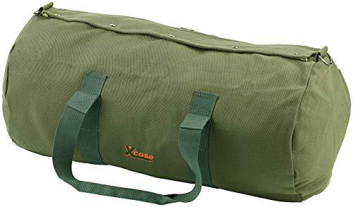 Xcase Canvas Tasche: XL-Canvas-Reisetasche mit gepolstertem Schultergurt, 70 Liter (Schultertaschen)