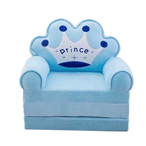 NUOBESTY Kindersessel Schonbezug Stuhlbezug Stretch Einzel Sofabezug Couch Sofabezug Möbelschutz Sofa Schutzbezug Sofakissenbezug für Kinder Himmelblau