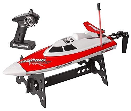 Top Race Barco de Control Remoto, Adultos y niños, Barco RC para Piscinas y Lagos, Juguete acuático (TR-800 Rojo)