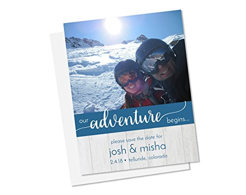 Begin Our Adventure Save the Date Cards