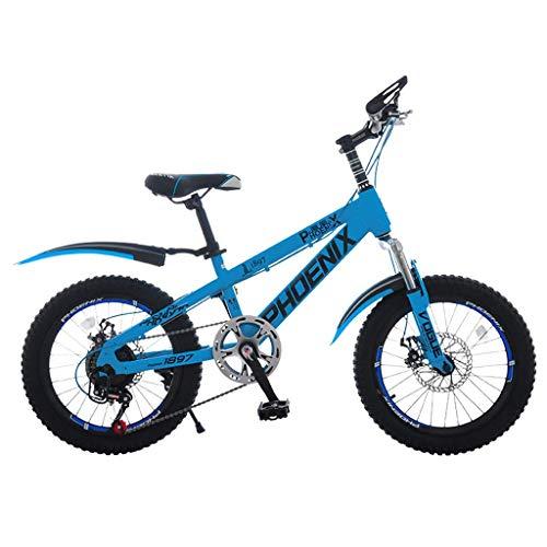 MYERZI Absorción de Impacto Bicicleta portátil de 7 velocidades niños de las montañas for bicicleta plegable bicicleta unisex de 20 pulgadas pequeño Rueda de bicicleta (Color: azul, tamaño: 140 * 30 *