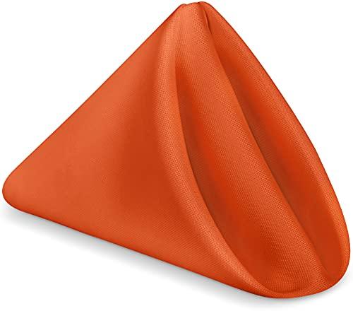 KICHLY Tovaglioli Arancioni - Confezione da 24 (43 x 43 cm), 100% Polyester, tovaglioli di stoffa per...