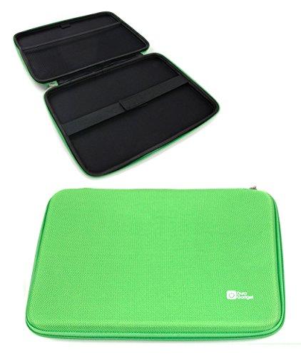 DURAGADGET Funda Rígida Verde Lima para Tablet SPC Glow 10, SPC Glee 10.1 Quad Core - con Bolsillo De Red En Su Interior