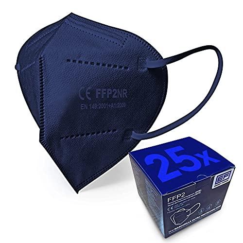 ENERGY FUSION Mascarilla FFP2 Azul Ultra Proteccion, Homologada, Certificación CE (25-Unidadess)
