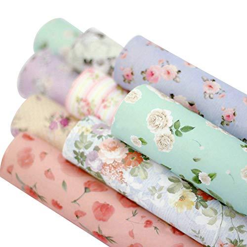 10 rollos de estilos variados patrón de flores precioso