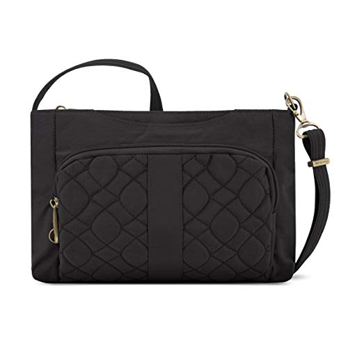 Travelon Anti-Theft Signature Quilted E/w Slim Bag, Black, One Size