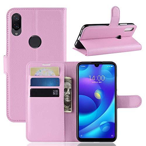 Capa Capinha Carteira 360 Para Xiaomi Mi Play Tela 5.84Case Couro Flip Wallet - Danet (Rosa)