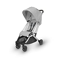 Suitable from 3 months to 50 lbs One-handed, one-step fold, stands when folded Extendable, pop out UPF 50+ sunshade and vented peekaboo window Multi-position reclining seat Large, easy-access basket with 20 lbs weight limit