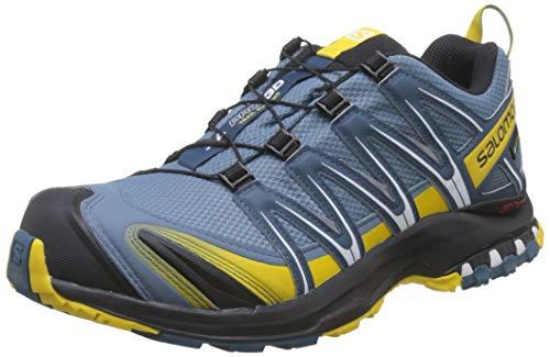 Salomon Homme Chaussures de Trail Running, XA PRO 3D GTX, Couleur: Bleu (Bluestone/Indian Teal/Sulphur), Pointure: EU 44