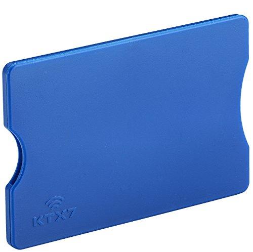 KTX7® RFID Schutzhülle aus Kunststoff für Kreditkarten, Personalausweis, EC-Karten, Bankkarten (Blau, 1 Stück)