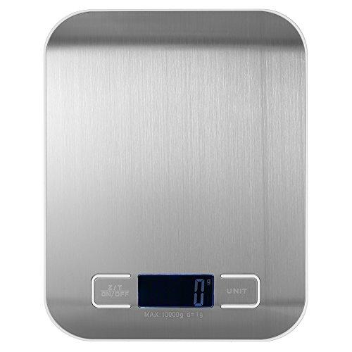 Weehey 10 kg / 1 g báscula de Cocina eléctrica precisa balanza de Cocina de Alta precisión Mini balanza electrónica de Plataforma balanza de Comida