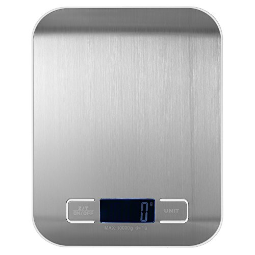Weehey 10 kg / 1 g báscula de Cocina eléctrica precisa balanza...