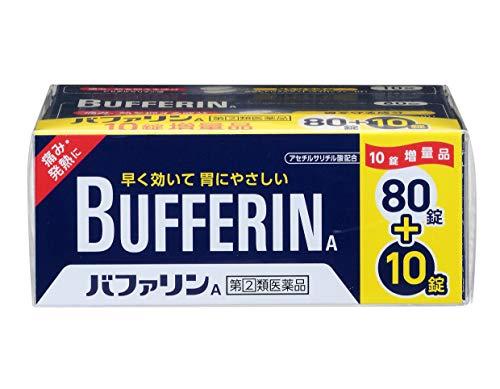 【指定第2類医薬品】バファリンA 頭痛・熱に (80錠+10錠) 90錠