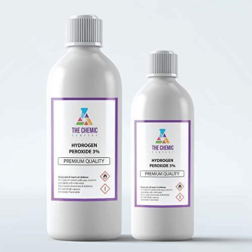 Peróxido de hidrógeno 3% de grado alimenticio, seguro para usar en las manos