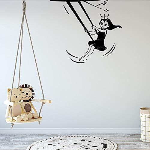 yaonuli Prinzessin Aufkleber abnehmbare Vinyl Wandbild Kinderzimmer Wohnzimmer Wohnkultur Wandmalerei 68X69cm