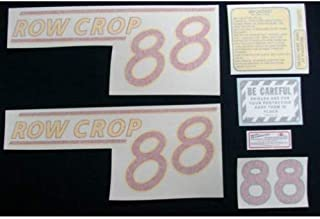 Tractor Decal Set, Oliver 88 Row Crop, Red, Vinyl