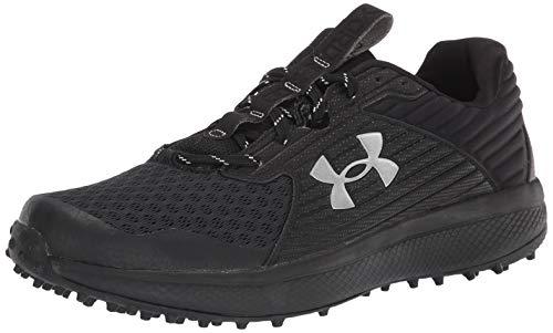 Under Armour mens Yard Turf Baseball Shoe, Black (005 Black, 12.5 US