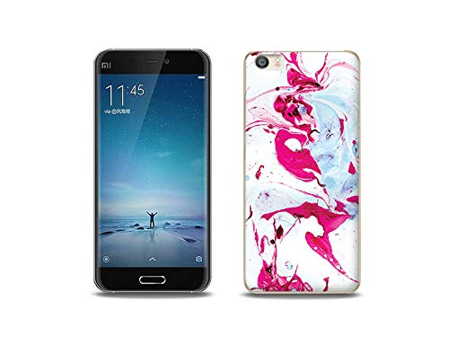 etuo Handyhülle für Xiaomi Mi5 - Hülle, Silikon, Gummi Schutzhülle - Rosa Marmor