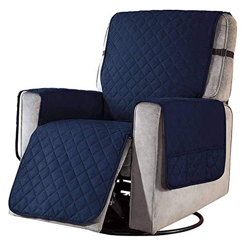 WLVG Reversible Recliner Stuhlbezug Recliner Schonbezug, Soft Recliner Bezug Sofa Schonbezug Sesselbezüge Möbelschutz Für Recliner Armchair-Navy-L