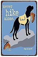 かわいい犬ヴィンテージスタイルの金属看板アイアン絵画に注意してください屋内 & 屋外ホームバーコーヒーキッチン壁の装飾 8 × 12 インチ