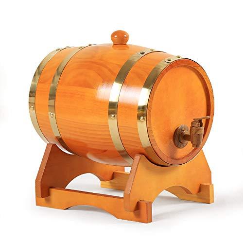 ZXPYZ Roble Barril De Vino - Cerveza, Whisky, Ron Puerto De Barriles De Roble del Vino De Madera Viejos, Roble - Maroon 1.5L