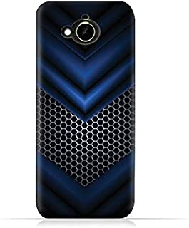 HTC Desire 10 Compact TPU Silicone Protective Case with Abstract Blue Mesh Pattern