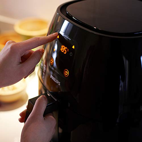 Philips HD9240/90 Avance Collection Air Fryer, Healthy Cooking, Baking and Grilling, Extra-Large, Plastic, 2100 W, 3 liters, Black